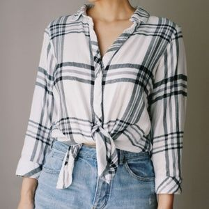 Anthropologie Hester & Orchard Plaid Button Down